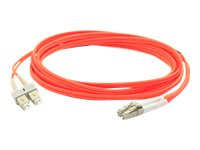 ACP-EP SC-LC OM1 Multimode Duplex Fiber Patch Cable, Orange, 50m
