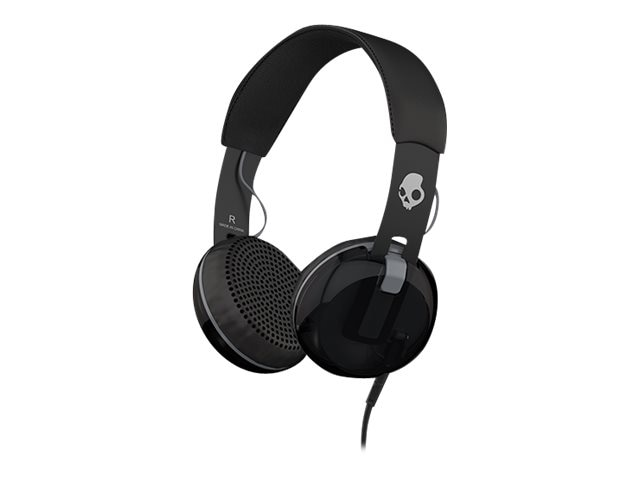 Skullcandy Grind Headphone w One-Button TapTech Functionality - Black Black Grey, S5GRHT-448, 23207821, Headsets (w/ microphone)