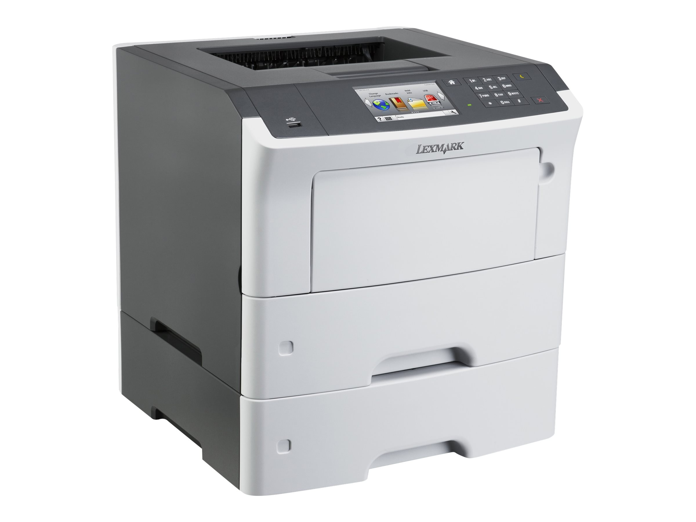 Lexmark MS610dte Monochrome Laser Printer - CAC Enabled (TAA Compliant), 35ST555