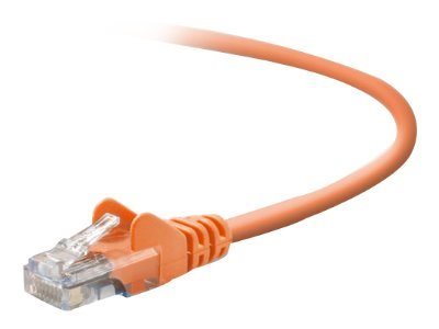 Belkin Cat5e Patch Cable, Orange, 50ft, Snagless, A3L791-50-ORG-S, 40850, Cables