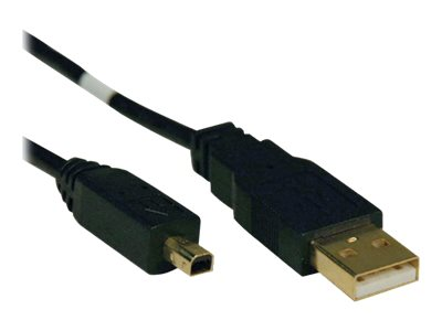 Tripp Lite USB 2.0 Gold Cable, Type A to 4-Pin Round Mini B, 6ft, U029-006, 8111207, Cables
