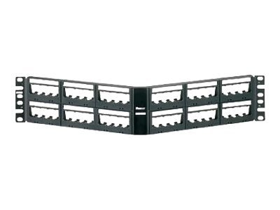 Panduit 48-Port Angled Patch Panel, UICMPPA48BLY