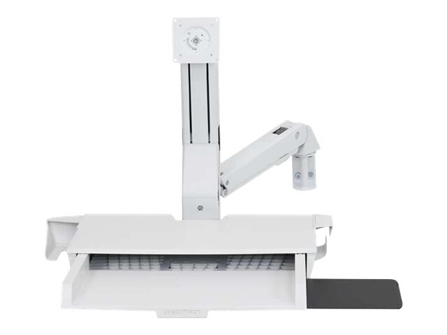 Ergotron StyleView Sit-Stand Combo Arm with Worksurface, White, 45-260-216