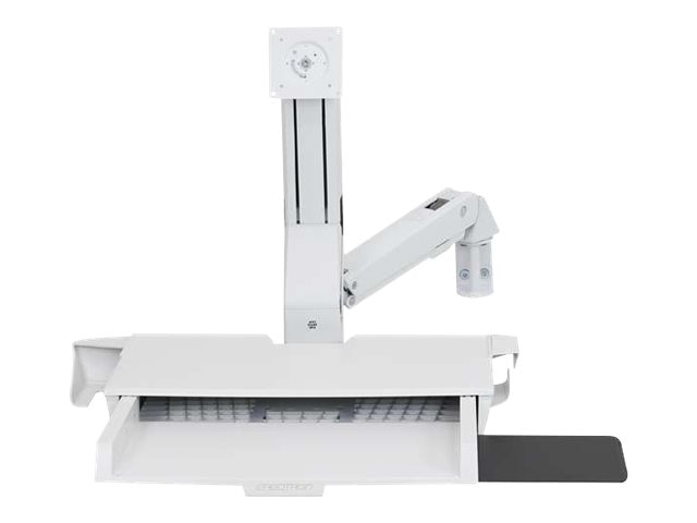 Ergotron StyleView Sit-Stand Combo Arm with Worksurface, White