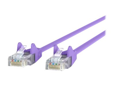 Belkin Cat5e Patch Cable, Purple, 7ft, Snagless