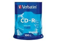 Verbatim 52x 700MB 80min. Branded CD-R Media (100-pack Spindle)