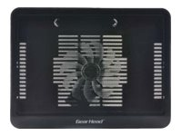 Gear Head Wire Mesh Notebook Cooling Pad with Blue LEDs, Black