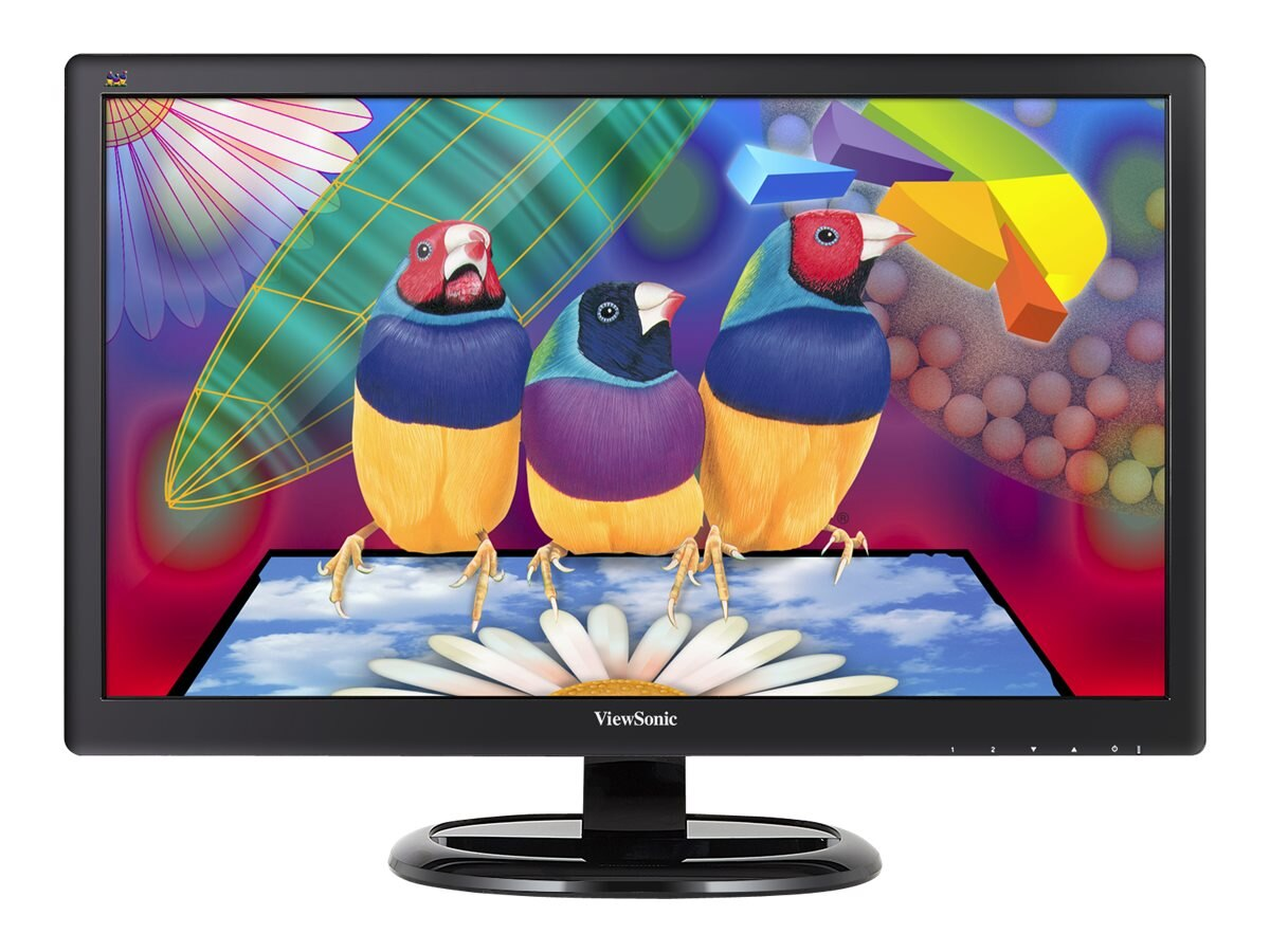 ViewSonic 23.6 VA2465SMH Full HD LED-LCD Display, Black, VA2465SMH, 18317559, Monitors - LED-LCD