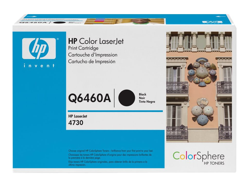 HP 644A (Q6460AG) Black Original LaserJet Toner Cartridge for US Government (TAA Compliant), Q6460AG