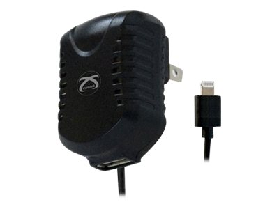 BTI AC Charger w Lightning and USB, TP-MFI-305U, 15746286, Battery Chargers