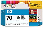 HP 70 Matte Black Ink Cartridges for HP DesignJet Z2100 & Z3100 Printers (2-pack)