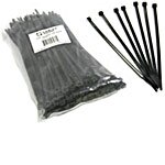 C2G Cable Ties 7.5, Black (100-Pack)