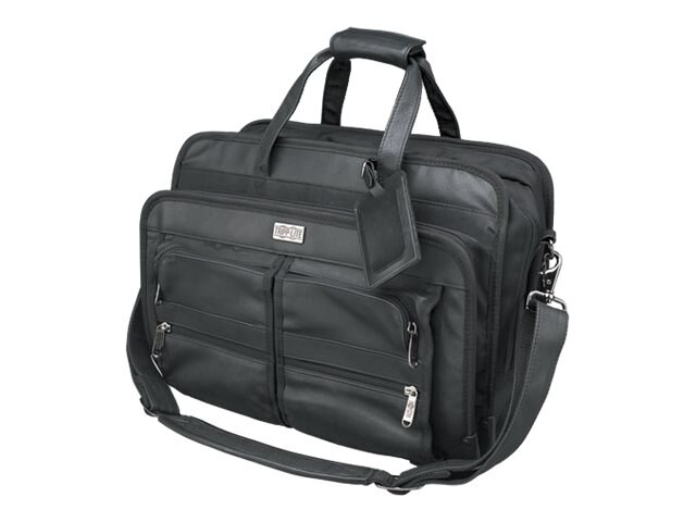 Tripp Lite Corporate Top Load Notebook Case, Leather Nylon, Black
