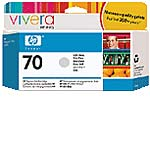 HP 70 Light Gray Ink Cartridges for HP DesignJet Printers (2-pack)