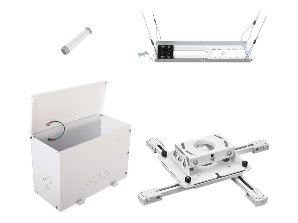 Chief Manufacturing Universal Projector Mount, 6 Fixed Extension Column, Above-Tile Storage, Ceiling Tile Kit