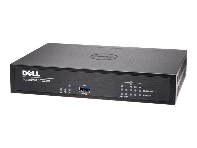 Dell SonicWALL TZ300 Firewall with TotalSecure (1 Year), 01-SSC-0581, 19697338, Network Firewall/VPN - Hardware
