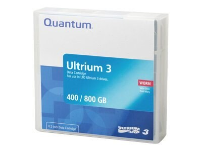 Quantum 400 800GB LTO-3 Ultrium WORM Tape Cartridge, MR-L3MQN-02, 5831348, Tape Drive Cartridges & Accessories