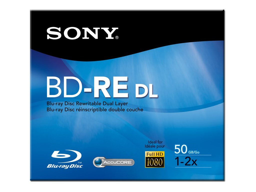 Sony 2x 50GB BD-RE DL Disc, BNE50RH, 8409222, Blu-Ray Media