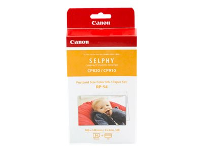 Canon RP-54 PostCard Paper & Ink (54 Sheets), 8567B001