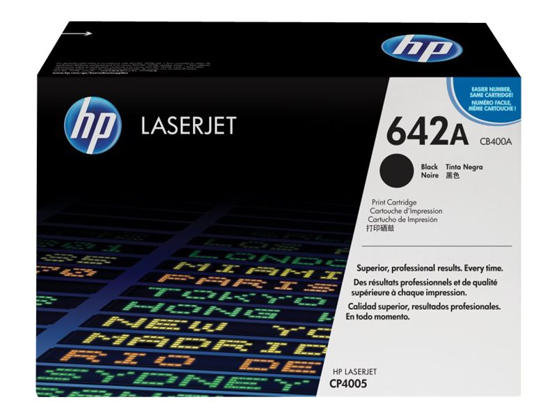 HP HP 642A, Black Original LaserJet Toner Cartridge, CB400A