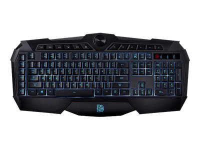 Thermaltake Challenger Prime Membrane Gaming Keyboard w  Red, Blue, Purple LED Backlighting, KB-CHM-MBBLUS-01