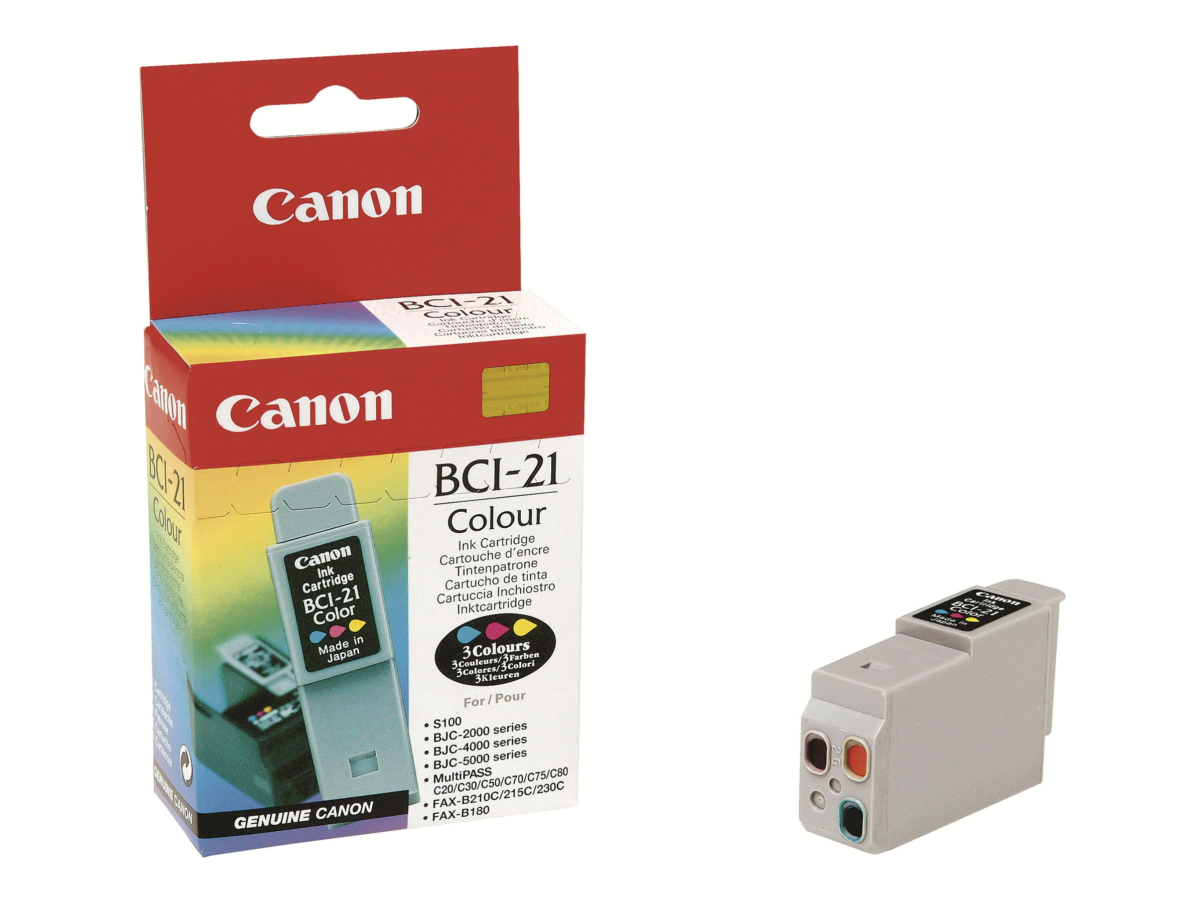 Canon Color BCI-21 Ink Tank for BJC-4000 BJC-5000 MultiPass, 0955A003, 20308, Ink Cartridges & Ink Refill Kits