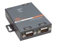 Lantronix 2-Port 10 100 RS232 422 485 Intl. PS External Device Server, UD2100002-01, 7290709, Remote Access Servers