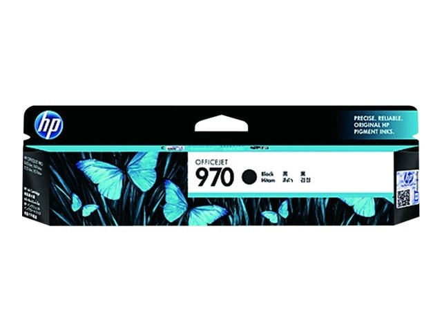 HP 970 (CN621AM) Black Original Ink Cartridge, CN621AM, 15253414, Ink Cartridges & Ink Refill Kits