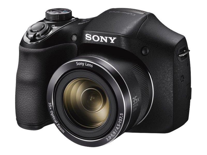 Sony Cyber-shot DSC-H300 Digital Camera, 20.1MP, 35x Zoom, Black