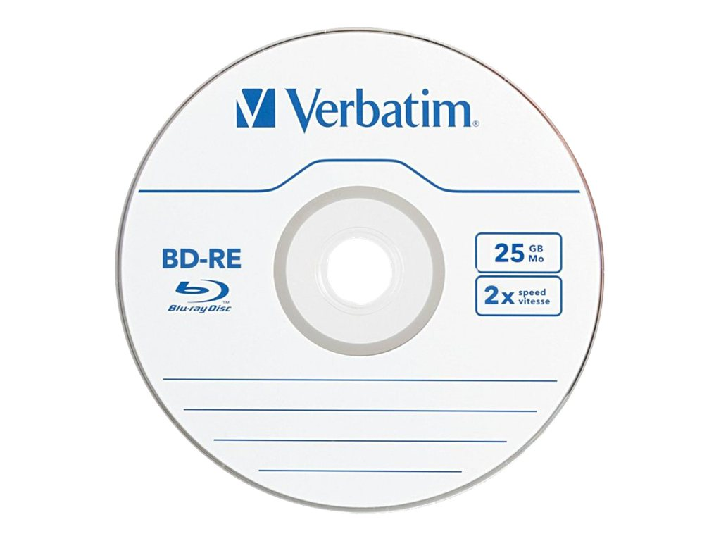 Verbatim 2x 25GB BD-RE Media (10-pack), 43694, 13733625, Blu-Ray Media