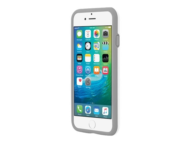 Incipio Stowaway Credit Card Case w  Kickstand for iPhone 6 6s, White Gray