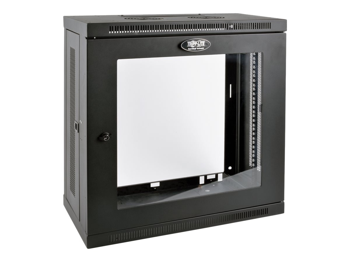 Tripp Lite SmartRack 12U Very Low-Profile Patch-Depth Wall-Mount Rack Enclosure Cabinet w  Clear Acrylic Window, SRW12U13G, 30916790, Racks & Cabinets