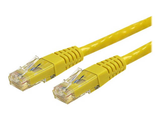 StarTech.com Cat6 UTP Patch Cable, ETL Verified, Yellow, Molded, 10ft, C6PATCH10YL, 8176123, Cables