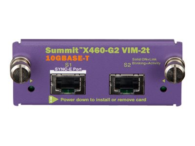 Extreme Networks Summit X460-G2 Series VIM-2t  Expansion module  10 GigE  10GBase-T