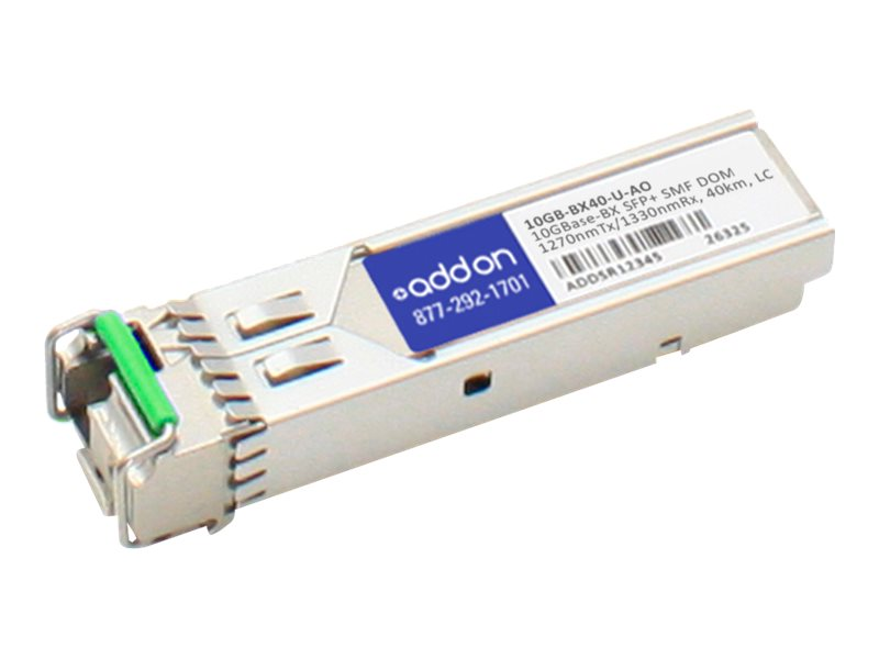 ACP-EP SFP+ 40KM 10GB-BX40-U TAA XCVR 10-GIG BIDI DOM LC Transceiver for Extreme