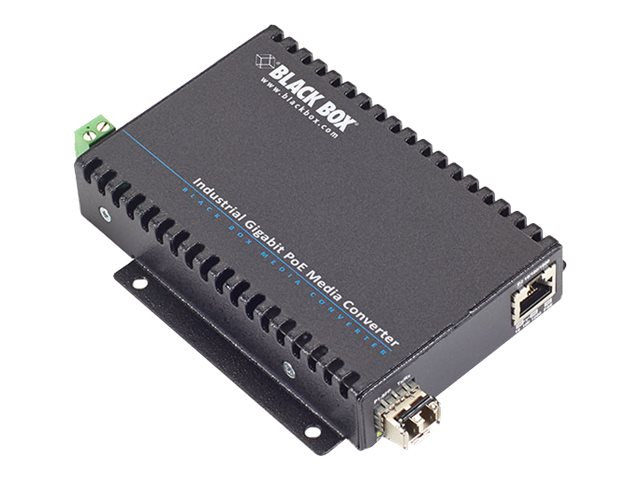 Black Box POE Industrial GE Media Converter