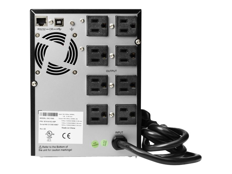 HPE T750 G4 144000VA 1080W 120V Line Interactive Tower UPS 5-15P Input (8) 5-15R Outlets (NA JP), J2P87A