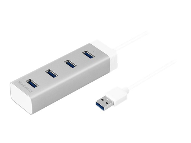 Macally 4-Port USB 3.0 Hub, White
