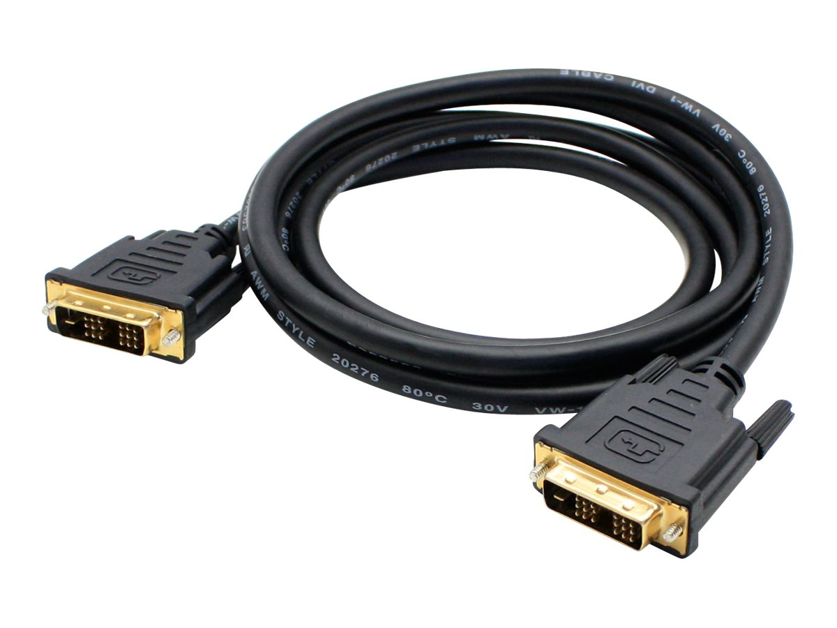 Add On DVI M M Cable, Black, 15ft, 5-Pack