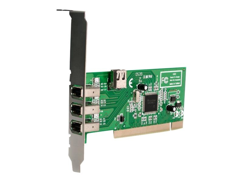 StarTech.com 3-port IEEE-1394 PCI Firewire Card Mac PC (PCI1394MP)