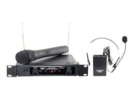 Pyle Two-Channel VHF Wireless Microphone, PDWM2700, 12696236, Microphones & Accessories