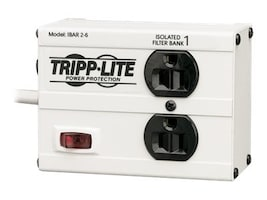 Tripp Lite Isobar 2-Outlet Surge Suppressor 6ft Cord 1410 Joules, ISOBAR 2-6, 130159, Surge Suppressors