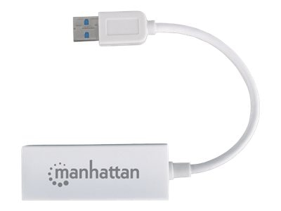 Manhattan Superspeed USB 3.0 to Gigabit Ethernet Adapter, 506847
