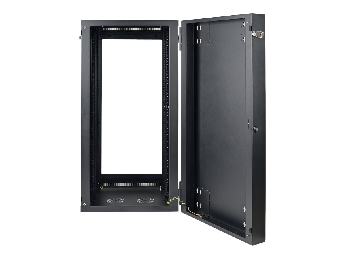 Tripp Lite SmartRack 26U Low-Profile Switch-Depth Wall-Mount Rack Enclosure, Clear Acrylic Window, Hinged Back, SRW26USG