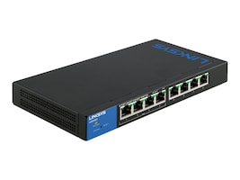 Linksys 8-Port Smart Gigabit PoE+ Switch, LGS308P, 16948621, Network Switches