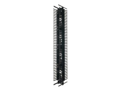 Panduit PatchRunner Vertical Cable Manager, Dual Sided, 42U x 6w, ABS, Steel Fingers