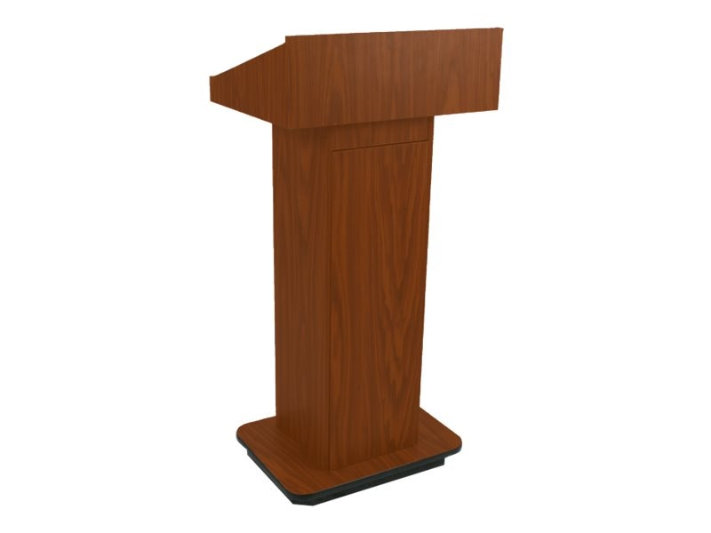 AmpliVox Executive Column Lectern, Mahogany