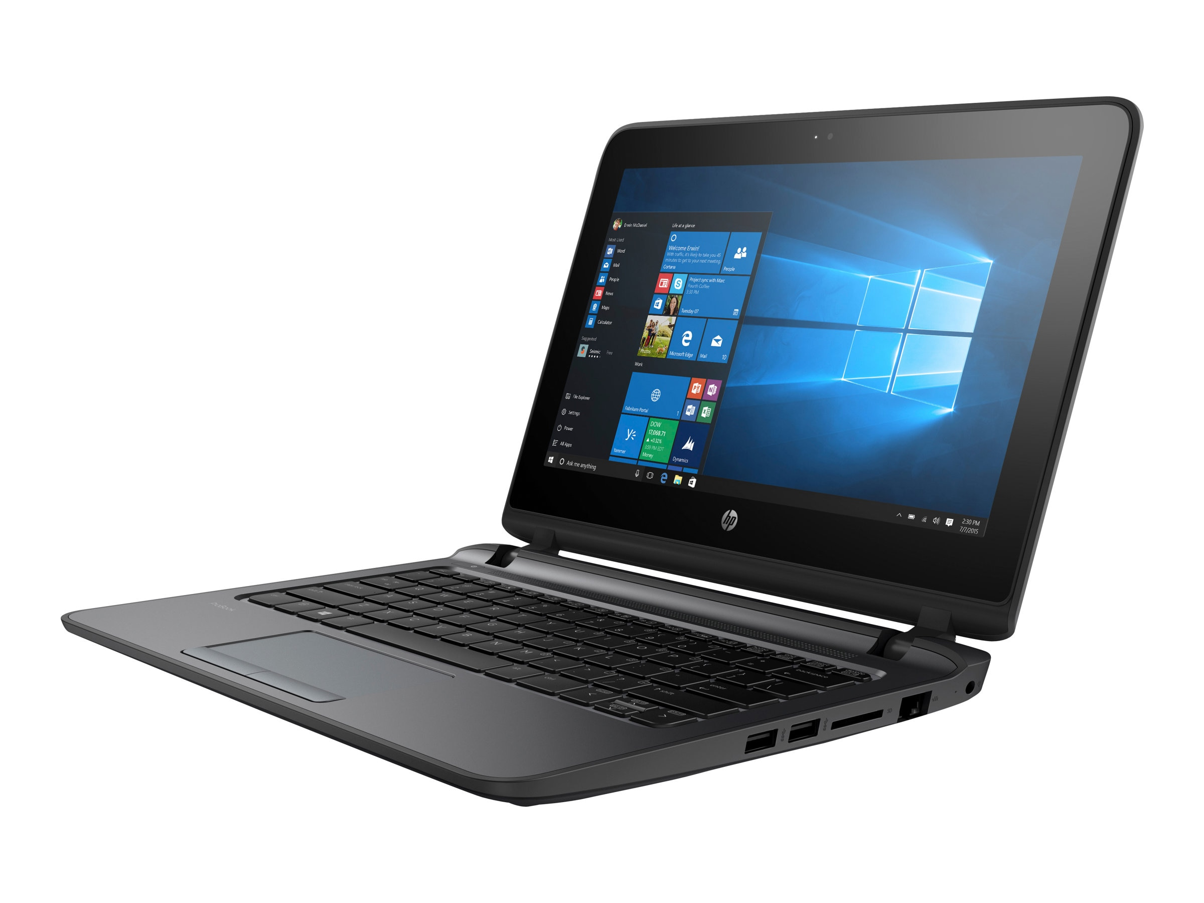 HP Shape the Future ProBook 11 EE G2 Celeron 3855U 1.6GHz 4GB 500GB ac BT WC 11.6 HD MT W7P64-W10P, V2W53UT#ABA