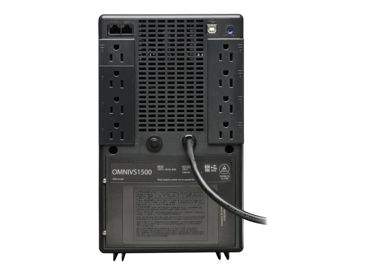 Tripp Lite 1500VA UPS Omni VS Tower Line-Interactive (8) Outlet, OMNIVS1500