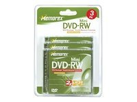 Memorex 2x 1.4GB DVD-RW Media (3-pack Blister), 32025620, 5592412, DVD Media